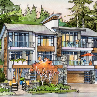 West Vancouver, BC - Chippendale Mews Mockup