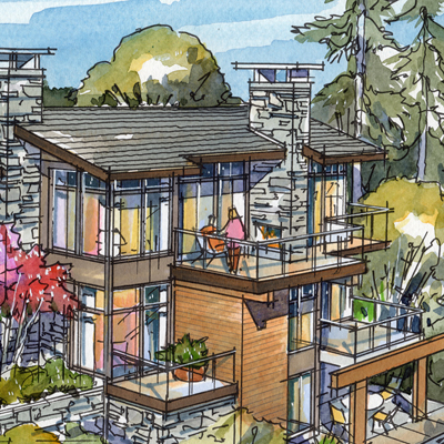 West Vancouver, BC Homesite Mockup 3